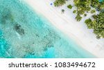 aerial top view tropical island ... | Shutterstock . vector #1083494672