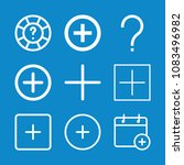 set of 9 button outline icons... | Shutterstock .eps vector #1083496982