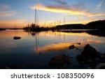 a beautiful sunset over the...   Shutterstock . vector #108350096