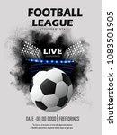 soccer football stadium...   Shutterstock .eps vector #1083501905