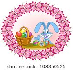easter bunny with colorful... | Shutterstock .eps vector #108350525