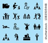 set of 16 people filled icons... | Shutterstock .eps vector #1083505448