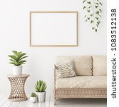 home interior poster mock up... | Shutterstock . vector #1083512138