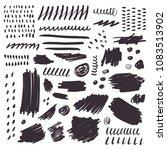 set of black ink brush strokes... | Shutterstock .eps vector #1083513902