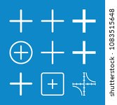 set of 9 mathematics outline... | Shutterstock .eps vector #1083515648