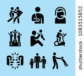 set of 9 people filled icons... | Shutterstock .eps vector #1083515852