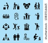 set of 16 people filled icons... | Shutterstock .eps vector #1083516665