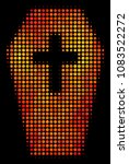dotted coffin icon. bright... | Shutterstock .eps vector #1083522272