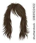 trendy woman long hairs brown... | Shutterstock .eps vector #1083522422