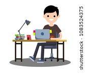 cartoon flat illustration   a... | Shutterstock . vector #1083524375