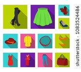 women clothing flat icons in... | Shutterstock .eps vector #1083524486