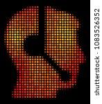 pixel call center operator icon.... | Shutterstock .eps vector #1083526352