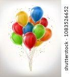 vector realistic bunch of... | Shutterstock .eps vector #1083526652