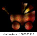 dot baby carriage icon. bright... | Shutterstock .eps vector #1083529112