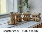 wooden toys  wooden plane and... | Shutterstock . vector #1083546482