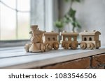wooden toys  wooden plane and... | Shutterstock . vector #1083546506