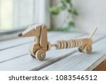 wooden toys  wooden plane and... | Shutterstock . vector #1083546512