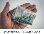 a plastic bag of synthetic... | Shutterstock . vector #1083546545