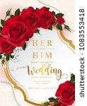 wedding invitation card... | Shutterstock .eps vector #1083553418