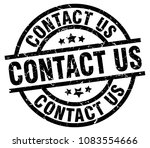 contact us round grunge black... | Shutterstock .eps vector #1083554666