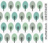 cute tree seamless pattern for... | Shutterstock .eps vector #1083556658