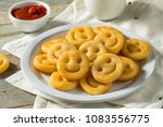 homemade smiley face french...   Shutterstock . vector #1083556775