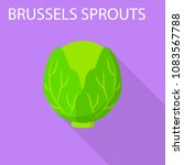 brussels sprouts icon. flat...   Shutterstock .eps vector #1083567788