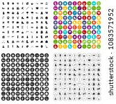 100 winter icons set vector in... | Shutterstock .eps vector #1083571952