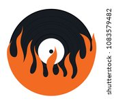 flame vinyl icon. flat color... | Shutterstock .eps vector #1083579482