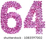 arabic numeral 64  sixty four ... | Shutterstock . vector #1083597002