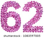 arabic numeral 62  sixty two ... | Shutterstock . vector #1083597005