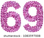 arabic numeral 69  sixty nine ... | Shutterstock . vector #1083597008