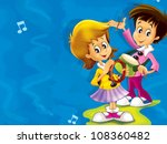 the young musicians composing ... | Shutterstock . vector #108360482