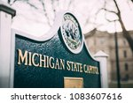 michigan state capital building ... | Shutterstock . vector #1083607616