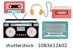 a set of old retro vintage... | Shutterstock .eps vector #1083612602