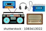 a set of old retro vintage...   Shutterstock .eps vector #1083613022