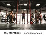 functional training class... | Shutterstock . vector #1083617228