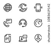 set of black icons isolated on... | Shutterstock .eps vector #1083619142