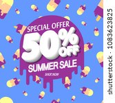 summer sale  50  off  special... | Shutterstock .eps vector #1083623825