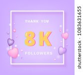 8000 followers thank you card.... | Shutterstock .eps vector #1083631655