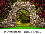 Old Stone Entrance Wall In The...