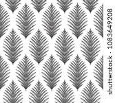 vector ethnic seamless... | Shutterstock .eps vector #1083649208