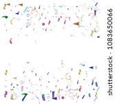 party ornament tinsel vector... | Shutterstock .eps vector #1083650066