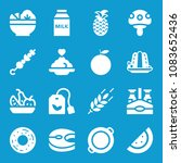 Set Of 16 Food Filled Icons...