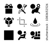 set of 9 shapes filled icons...   Shutterstock .eps vector #1083652526