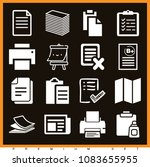 set of 16 paper filled icons... | Shutterstock .eps vector #1083655955