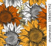 beautiful vector pattern from... | Shutterstock .eps vector #1083657542