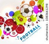 football abstract design... | Shutterstock .eps vector #1083661298