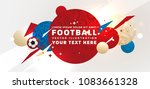 football abstract design... | Shutterstock .eps vector #1083661328