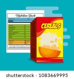 cereals box with nutrition bag | Shutterstock .eps vector #1083669995